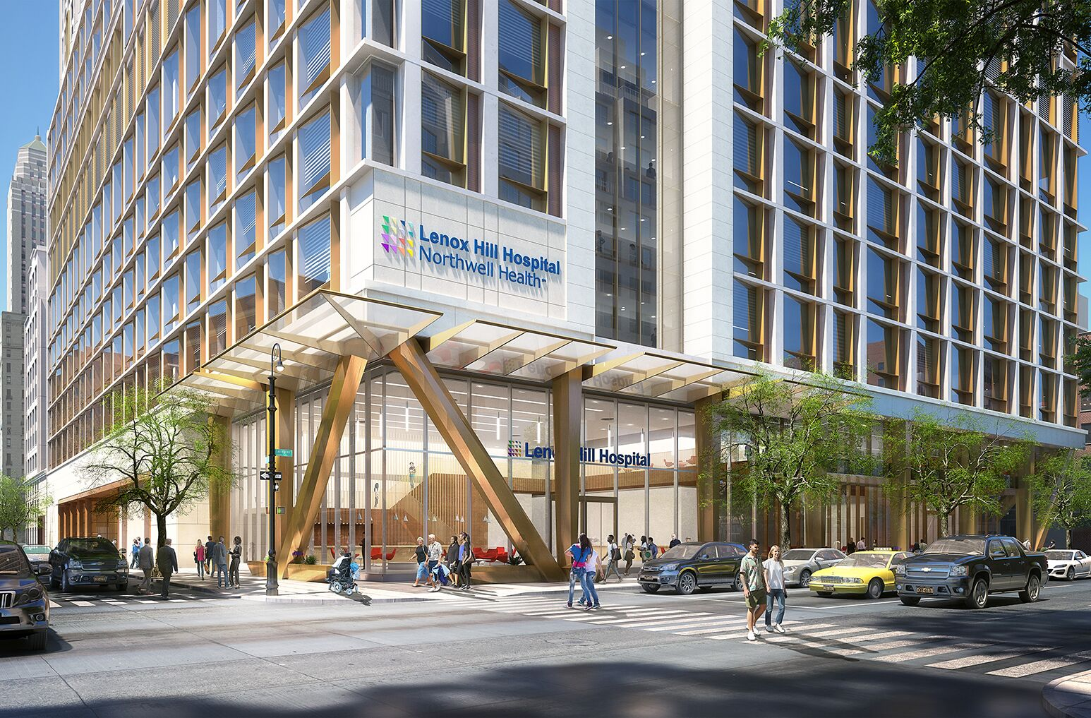 An artist rendering of the proposed Lenox Hill Hospital renewal plan.