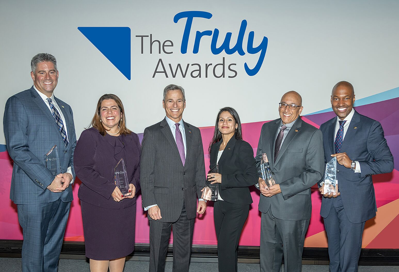 Northwell Health Physician Partners honors The Truly Award Winners. From left: Peter Finamore, MD; Kristina Deligiannidis, MD; Ira Nash, MD; Julissa Jurado, MD; Mansoor Beg, MD; and Yves Duroseau, MD.