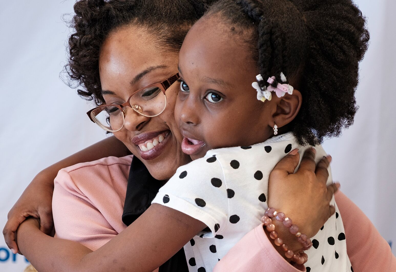 Dominique Strickland with her daughter