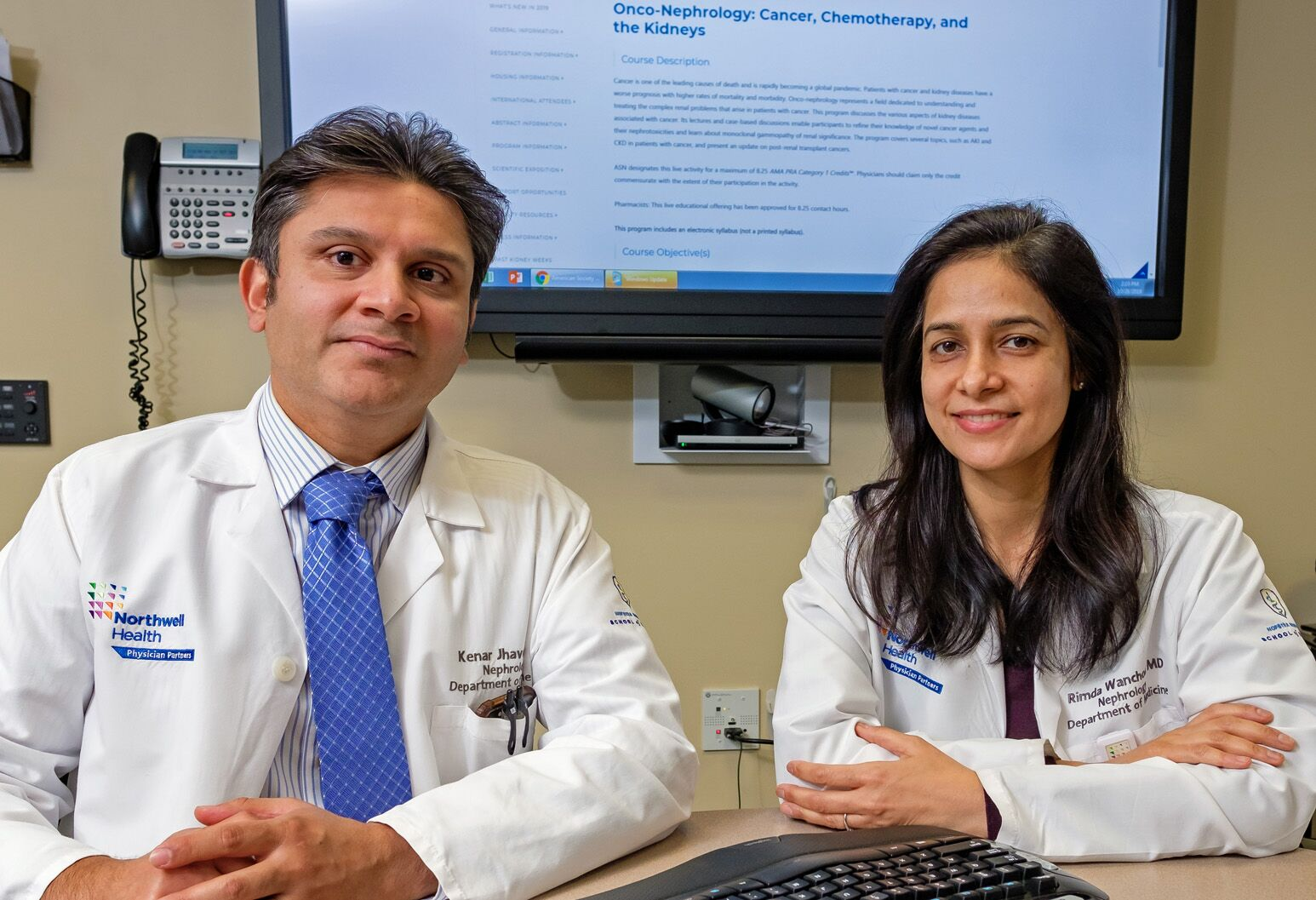 Northwell nephrologists Kenar Jhaveri, MD, and Rimda Wanchoo, MD, are  shaping a new subspecialty called onconephrology