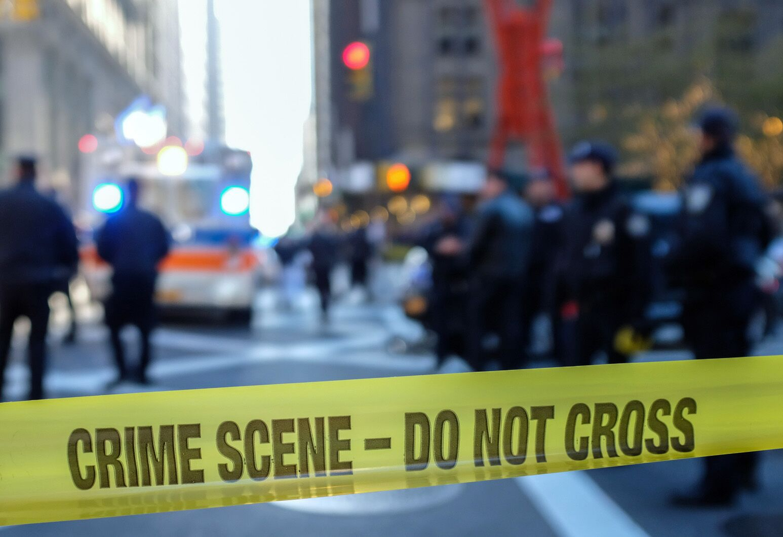 Yellow police tape closes off a crime scene. Curtis Reisinger, PhD, calls for more action in decreasing police suicides.